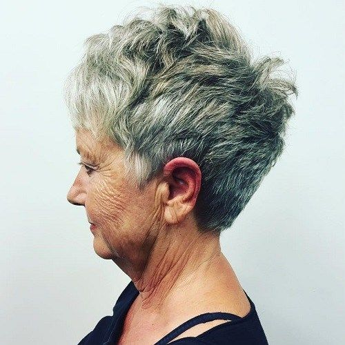 over 70s salt and pepper pixie