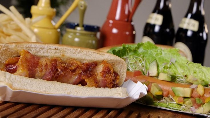 Elevate your scorching canine to a haute canine with 4 luxe spins on this meaty stadium b.... ** See more at the image Check more at http://www.popsugar.com/food/Hot-Dog-Recipes-Video-31023908