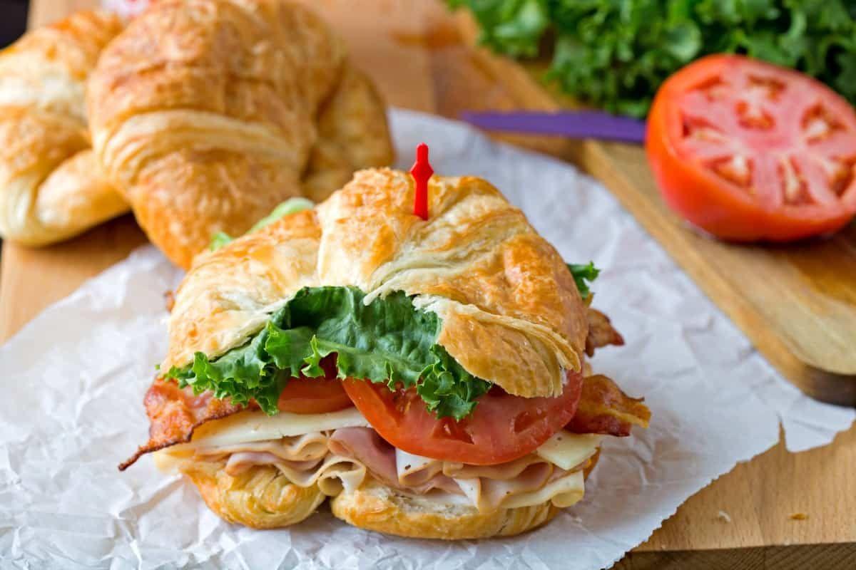 california club croissant sandwich | recipe | recetas | pinterest