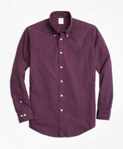 ffc16c6a Brooks Brothers Regent Fit Brushed Oxford Gingham Sport Shirt ...