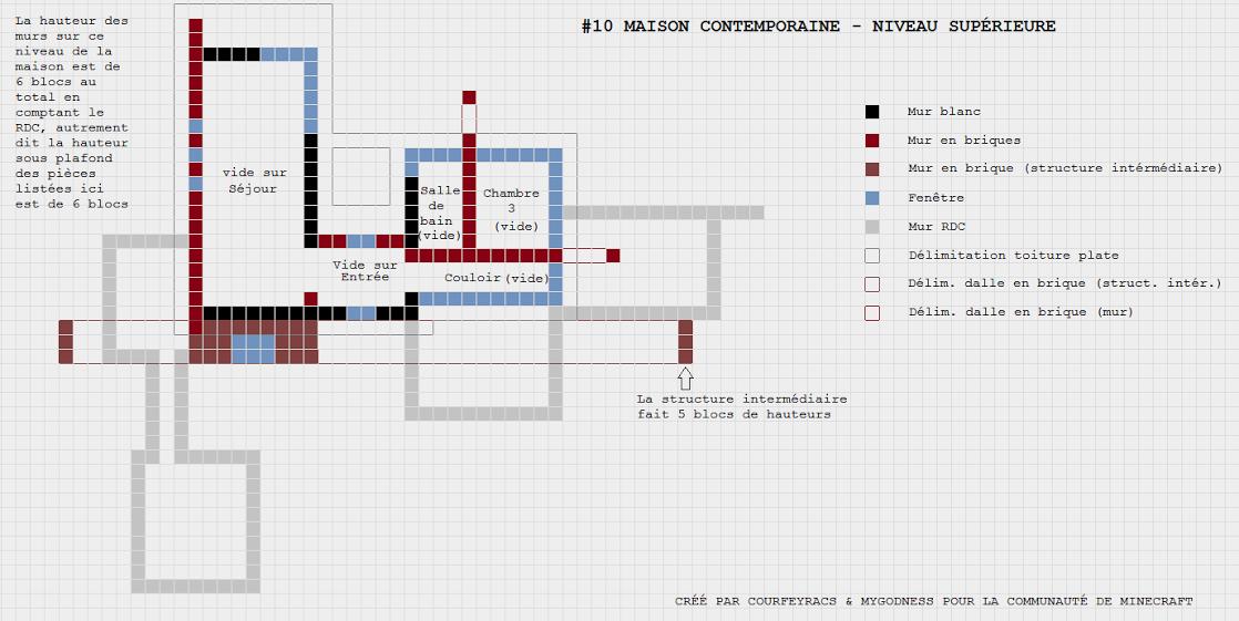 Connu Plan d'une maison contemporaine | Minecraft-Constructor  DV36