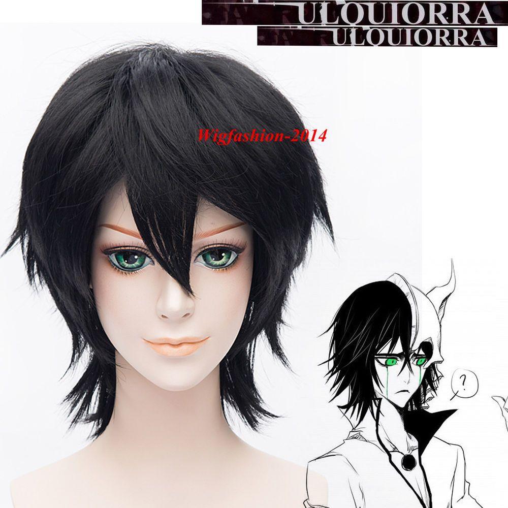 30cm 12 Short Black Cosplay Wig Bleach Ulquiorra Schiffer Straight Anime Wig Cosplay Wigs Anime Wigs Wigs