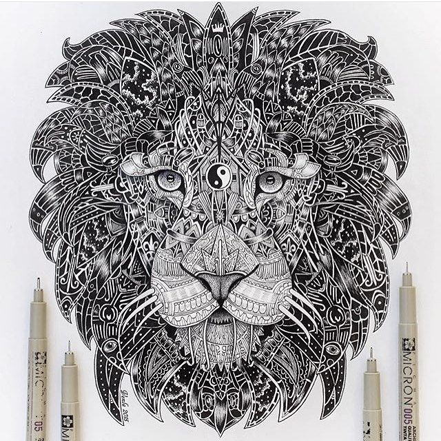 Zentangle lion vvvenla art arts gallery arts, love mandala coloring pages