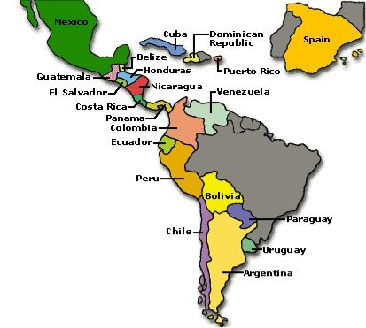 Map Of Spain For Classroom.Map Of Spanish Speaking Countries Spanish Spanish Speaking