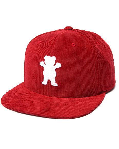 9a67f189220 Grizzly Griptape - Corduroy OG Bear Snapback Cap
