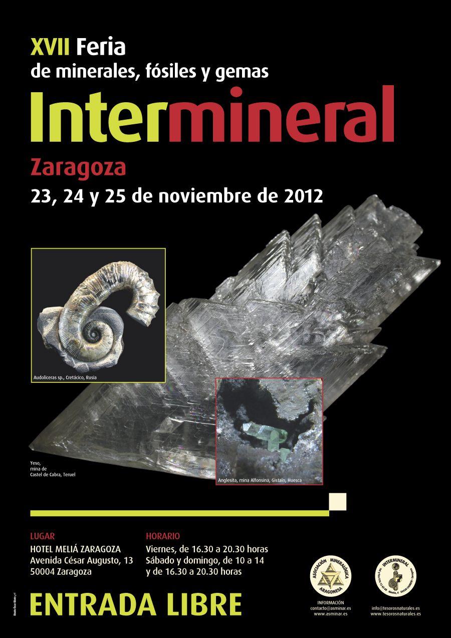 Cartel Feria de minerales. Diseño gráfico e impresión en Tipolínea.