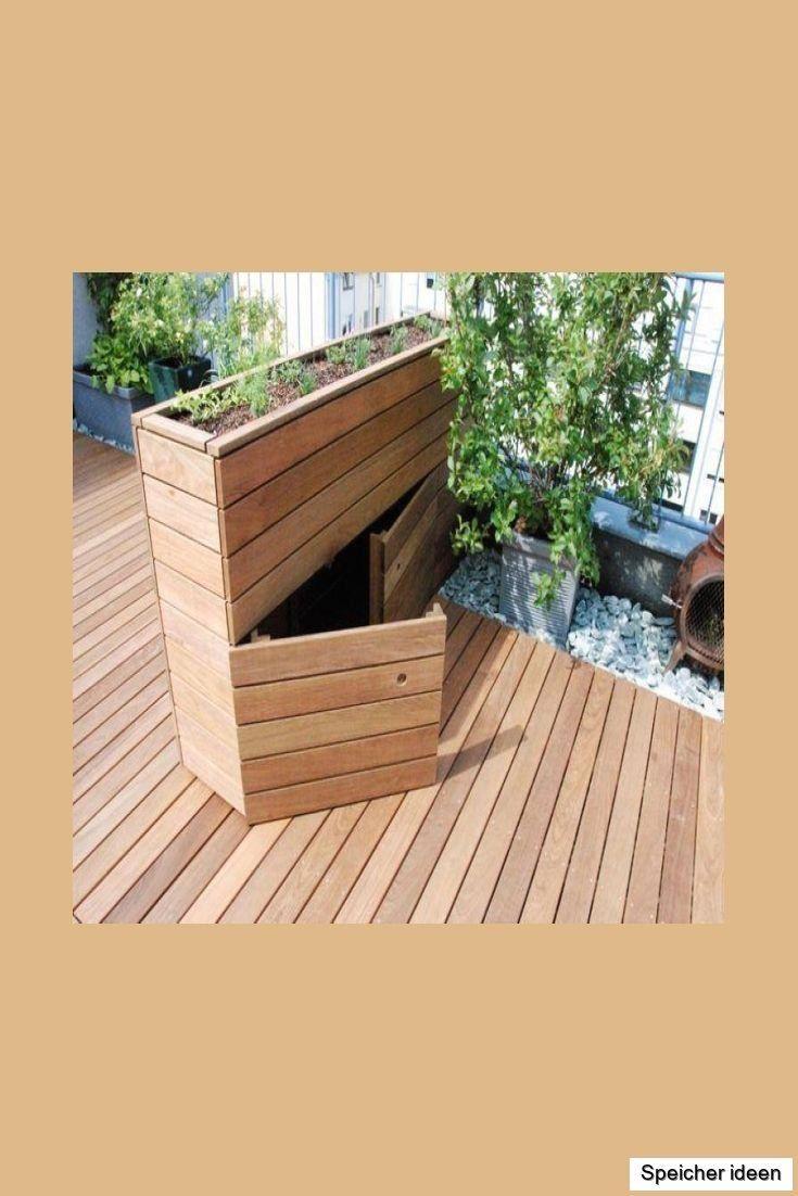 Hochbeet Mit Integriertem Stauraum Hochbeet Integriert Mit Stauraum H Modern Design In 2020 Backyard Landscaping Apartment Garden Backyard