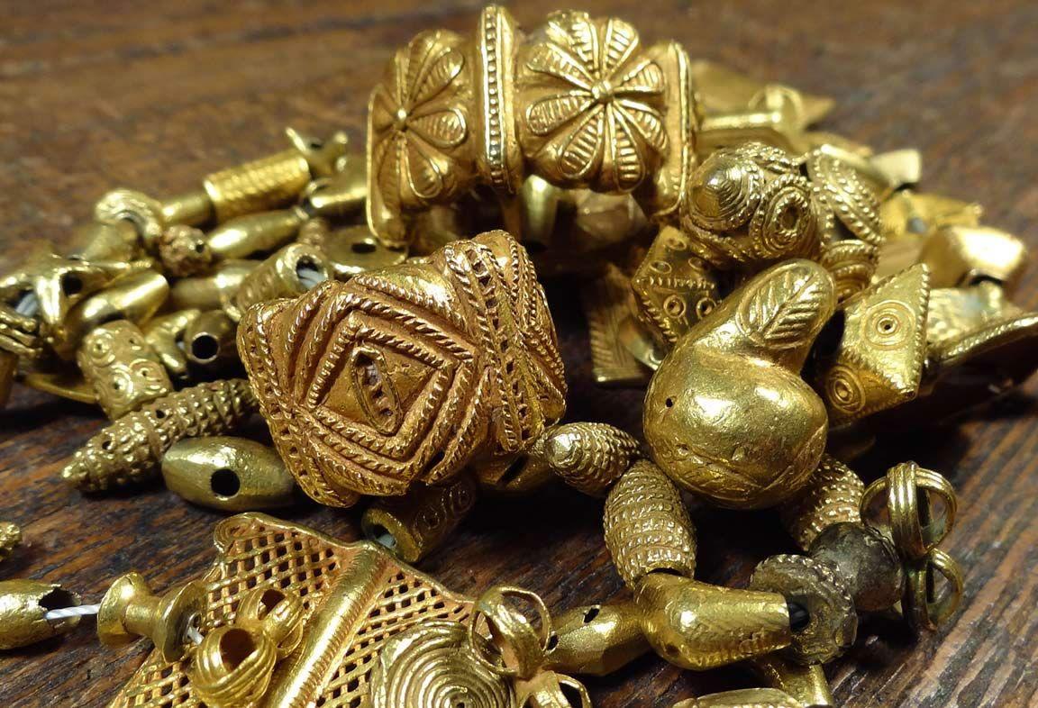 Africa | Akan - Ashanti - Asante Royal Gold Beads, Ghana ...