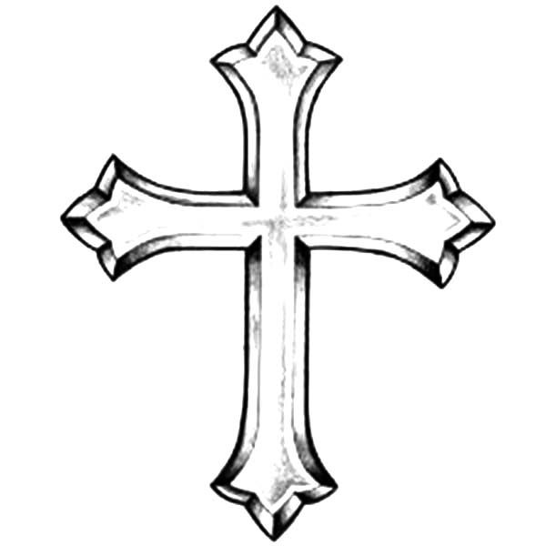 Cross Tattoo Line Drawing : Click on a picture to make it larger then print out