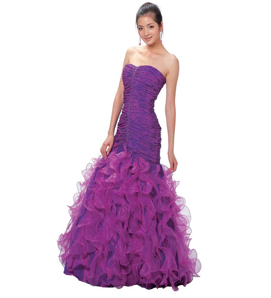 royal purple elegant bridesmaid dresses | ... dress L52018 ...