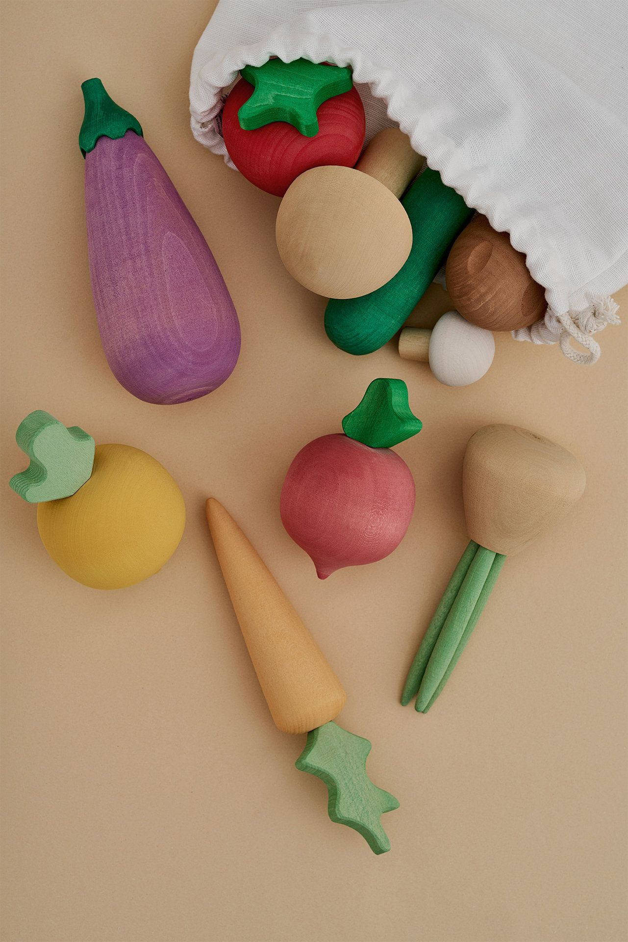 Wooden Vegetable Baby Toys