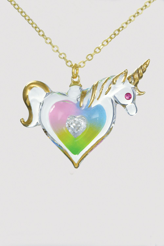 Mystic Unicorn Glass Pendant Necklace