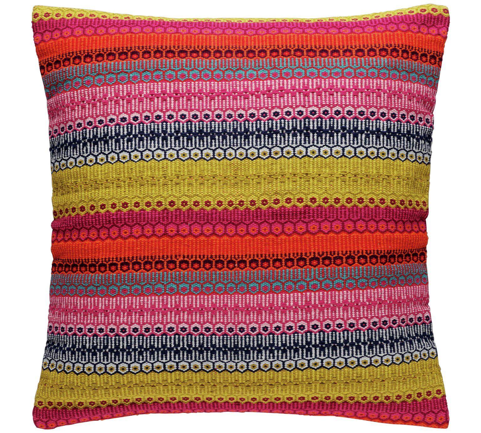 Buy Habitat Agnes Cushion 60x60cm Multicoloured