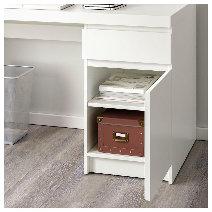 Scrivania A Muro Ikea.Ikea Malm White Desk Arredamento