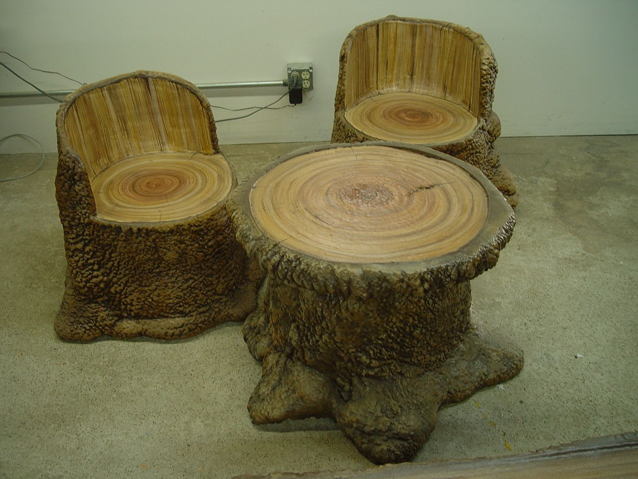 Log Table And Chairs Log Table And Log Chairs From Dunrite Playgrounds Http