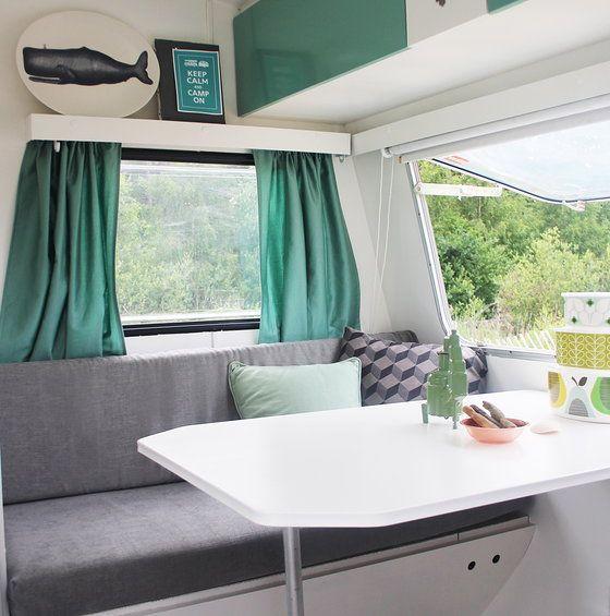 kussens opnieuw bekleden stofferen caravan boot camping car pinterest caravane. Black Bedroom Furniture Sets. Home Design Ideas