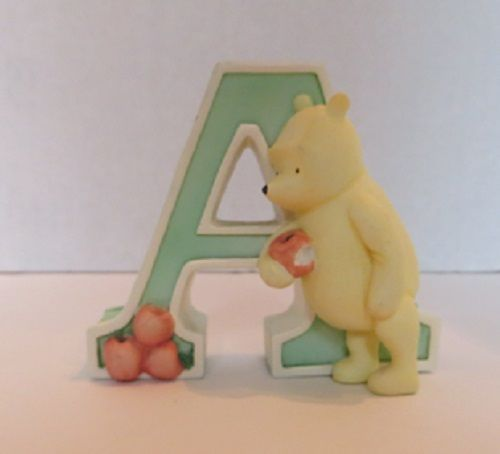 Disney Michel Clic Winnie The Pooh Alphabet Ceramic Nursery Letter A