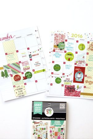 December Bucket List in the 'Be Bright' Happy Planner™ of mambi Design Team member Jennie McGarvey | me & my BIG ideas