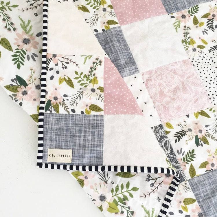 Lavender Puzzlecloth Modern Wholecloth Baby Quilt Baby Girl Etsy Boho Baby Quilt Baby Girl Quilts Quilts