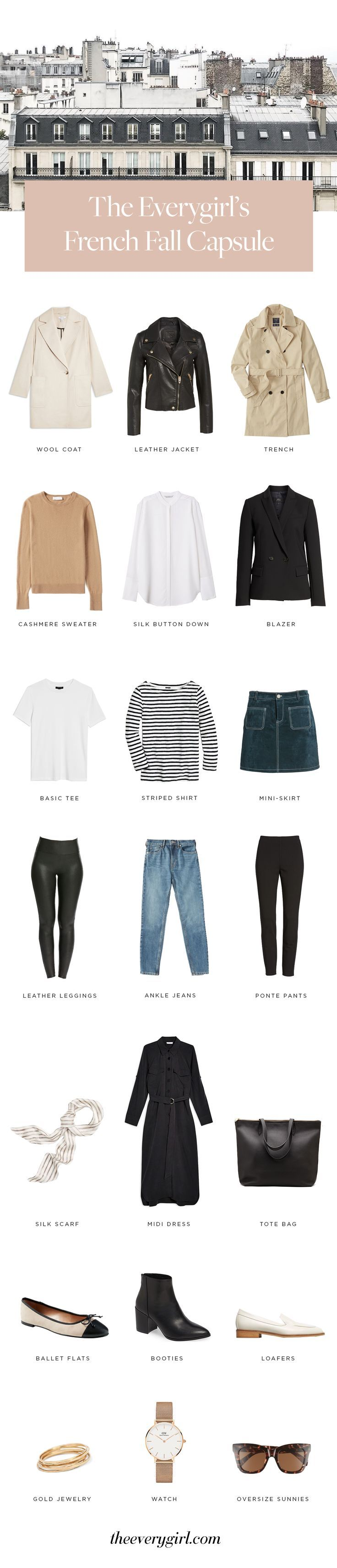 How to Create a French Fall Capsule Wardrobe – Pinterest Blog