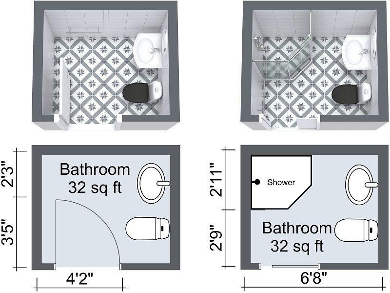 Small Bathroom Floor Plans With Pocket Door  Bathroom  Pinterest Magnificent Small Bathroom Designs And Floor Plans Design Ideas