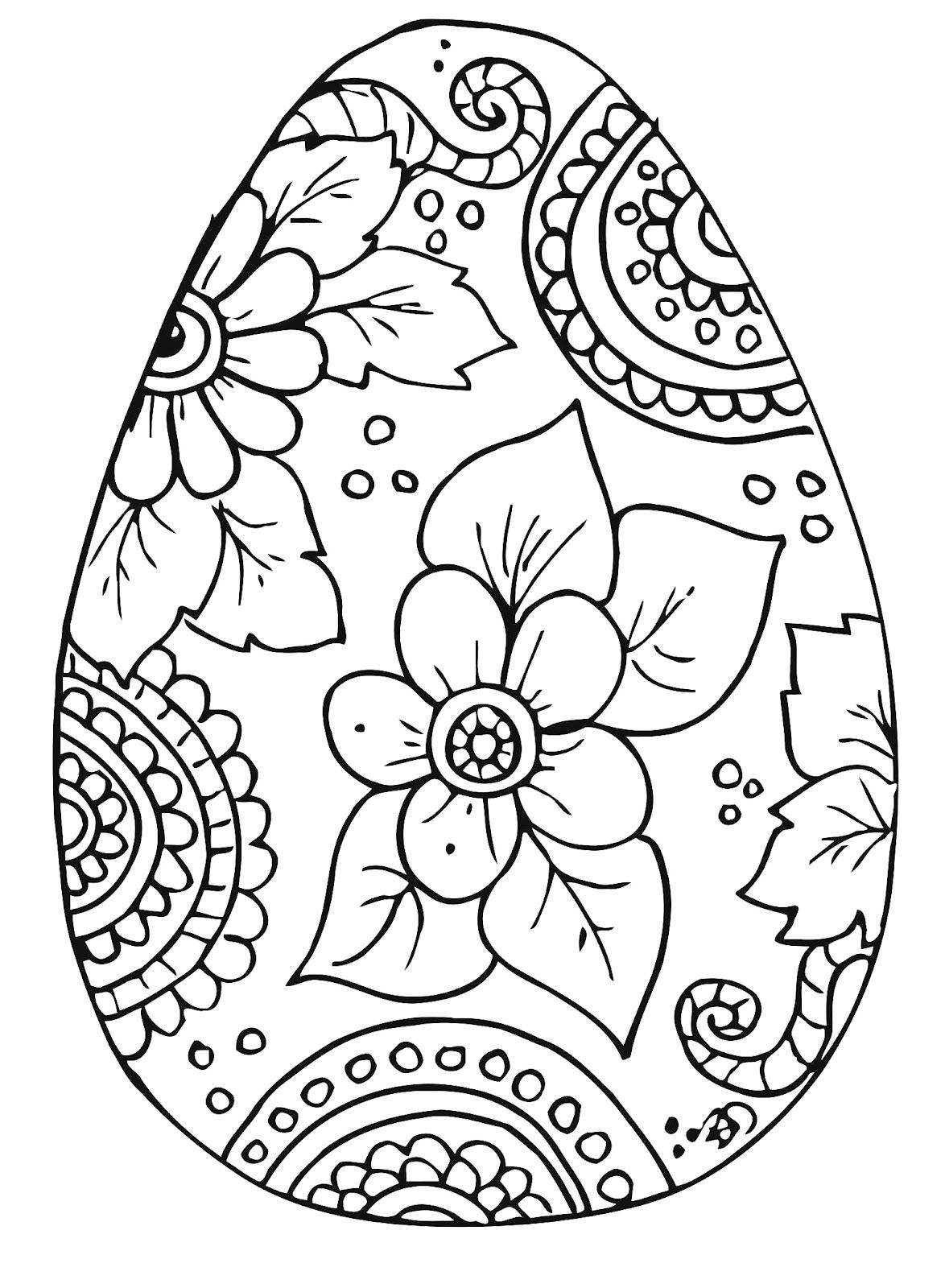 Free Coloring page Easter / Kleurplaat Pasen Easter egg