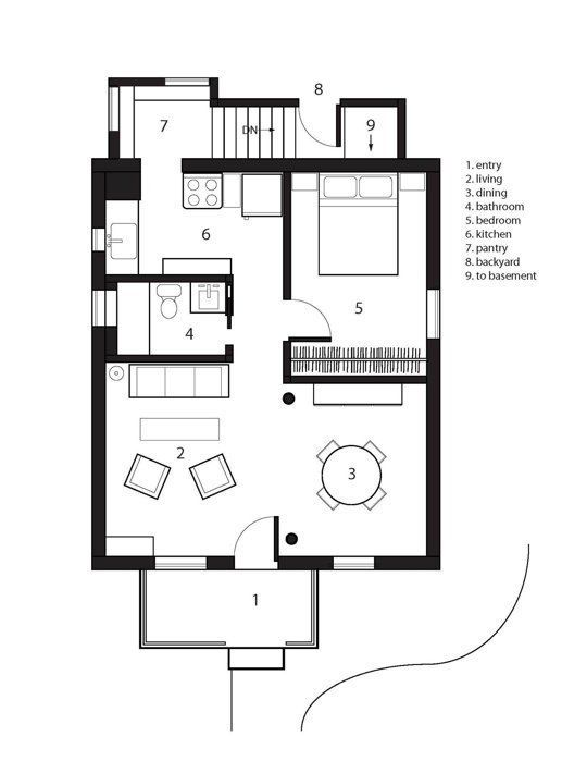 Small Space Lessons Floorplan Solutions From Emily S Uniquely Us Home Floor Plans Building Plans House Small Spaces