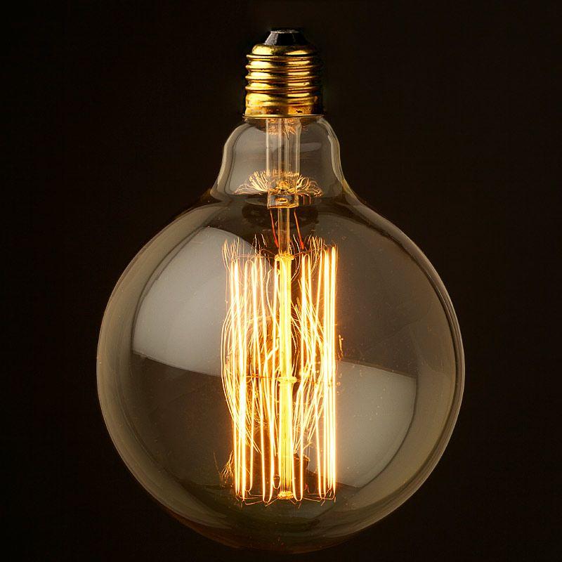 Vintage Edison Spherical Filament Bulb G125 E27 Vintage Light