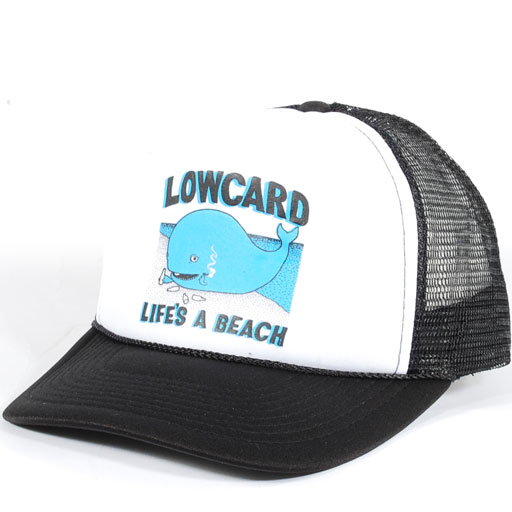 9322688fd40b84 Low Card Life's A Beach Trucker Snapback Hat (White/Black) $15.95 ...