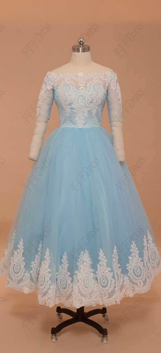Blue Vintage Prom Dress 101