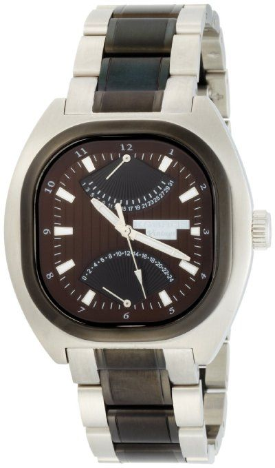 K&BROS Men's 9450-2 Steel Vintage Multifunction Stainless Steel Brown Dial Watch: Watches: Amazon.com