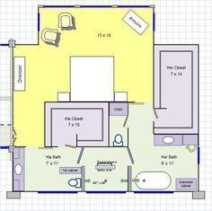 His Her Master Bathroom Floor Plan Love It Master Bedroom Addition Bathroom Floor Plans Master Bedroom Layout