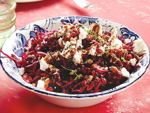 Rotkohl-Rote-Bete-Salat mit Feta Rezept | LECKER