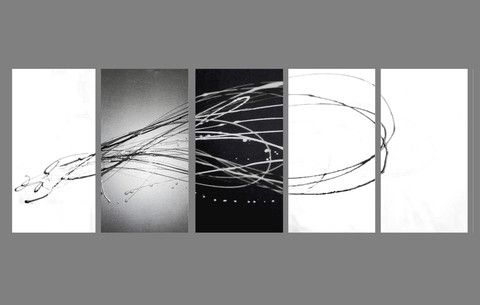 Abstract art black and white painting google search