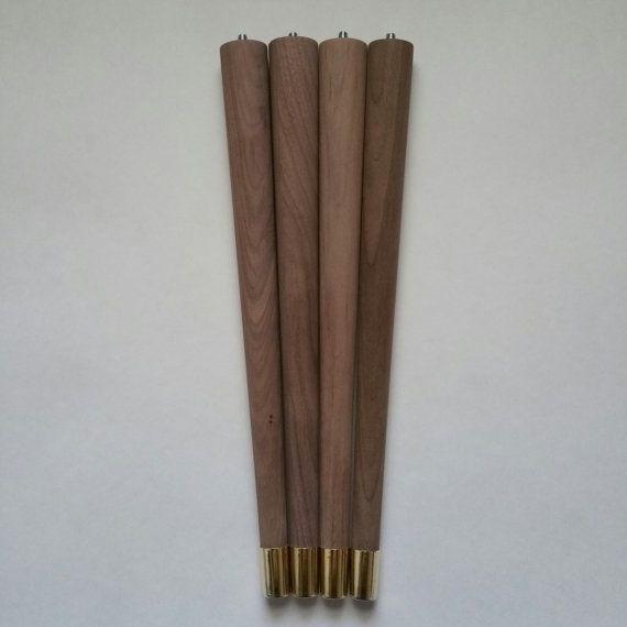 Mid Century Walnut Table Legs Round Tapered Paul Mccobb Style Legs 12 Inch To 18 Inch Walnut Table Table Legs Boston Living