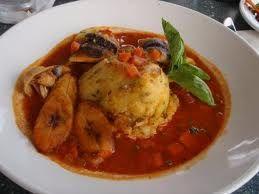 Jamaican Barbadian salt fish and cou cou (polenta)  https://sunspice.squarespace.com/recipes/2013/8/22/jamaican-barbadian-cou-cou-with-salt-fish-and-okra