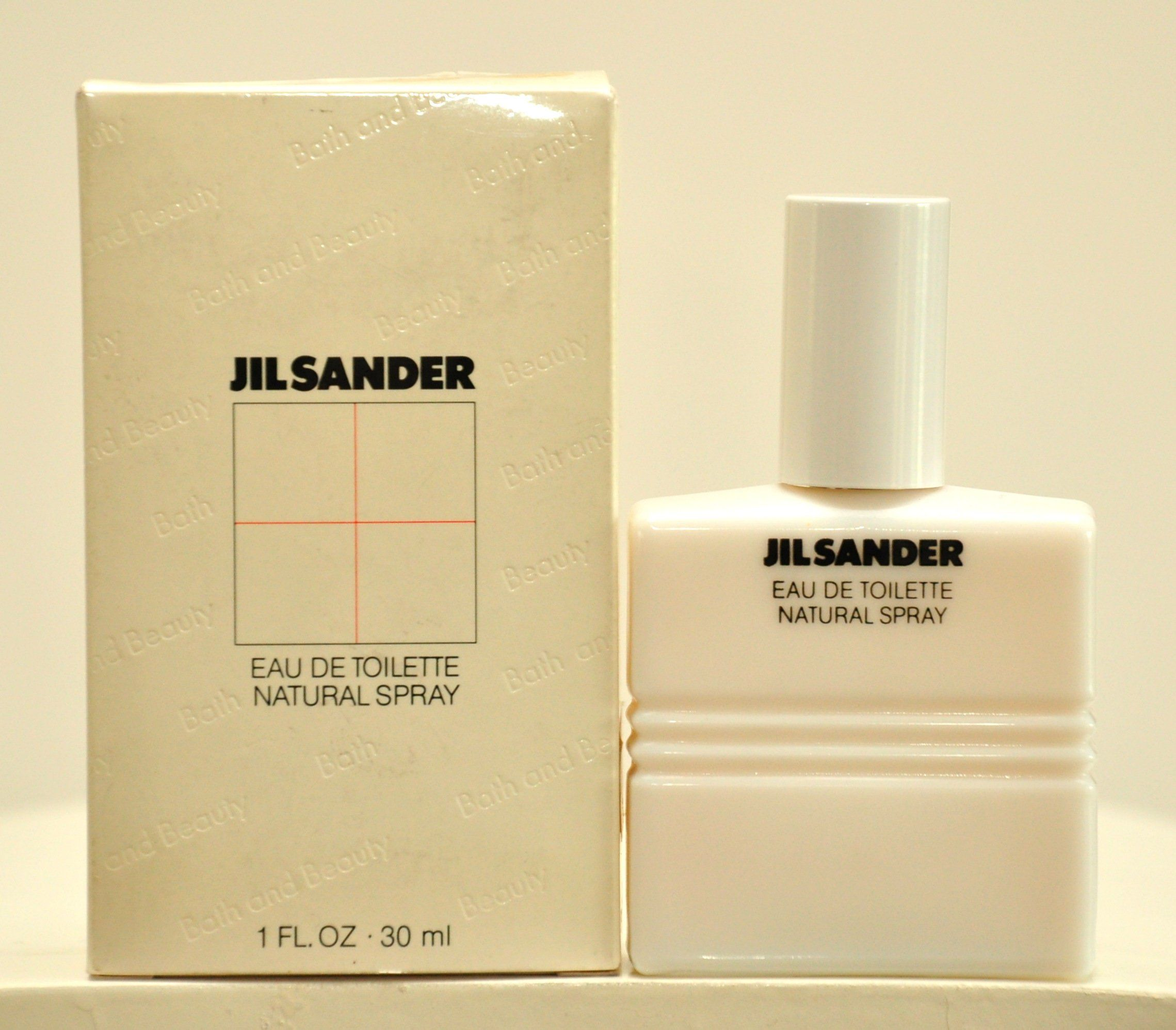 Jil Sander Bath And Beauty Eau De Toilette Edt Spray 30ml 1 Fl Oz Perfume Woman Rare Vintage Old 1981