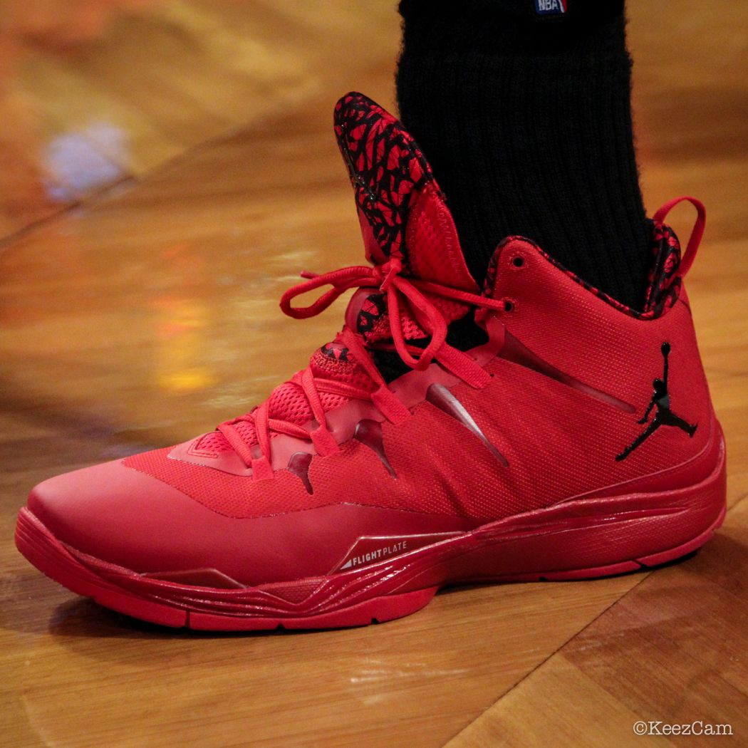 11daf99e083 Fly 2 Up Close At Barclays for Nets vs Clippers - Blake Griffin wearing Jordan  Super.Fly Jordan Super.Fly 2 Blue – Red ...