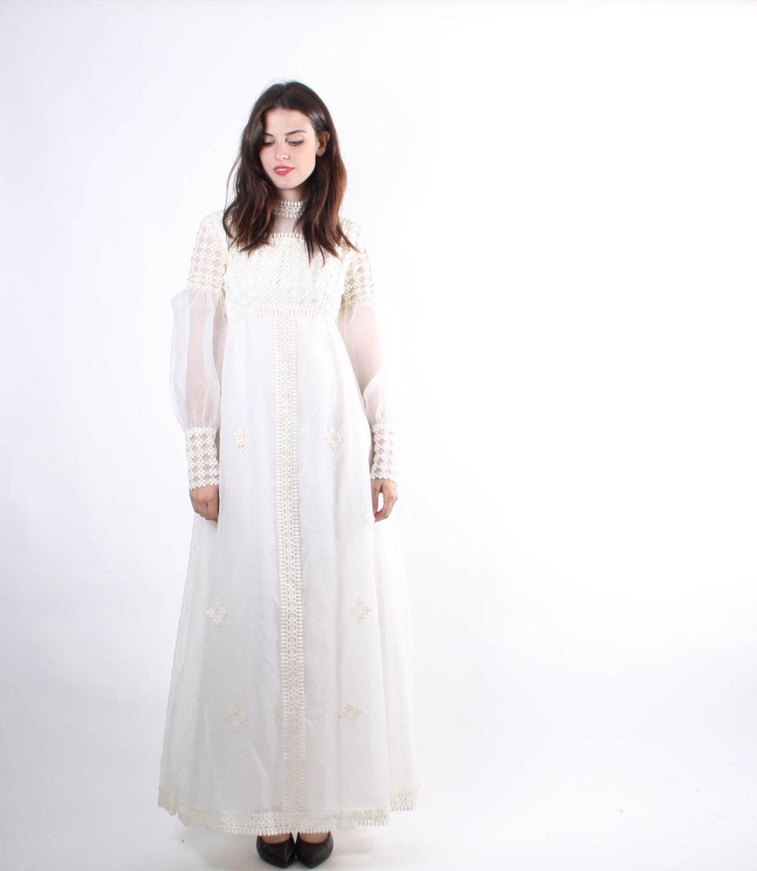 60s wedding dress  s Ivory Lace Wedding Dress  s Wedding Dresses  Lace Wedding
