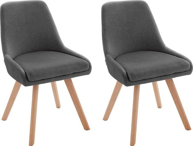 Stuhl »Dilla« aus schönem Webstoff Bezug und massiven