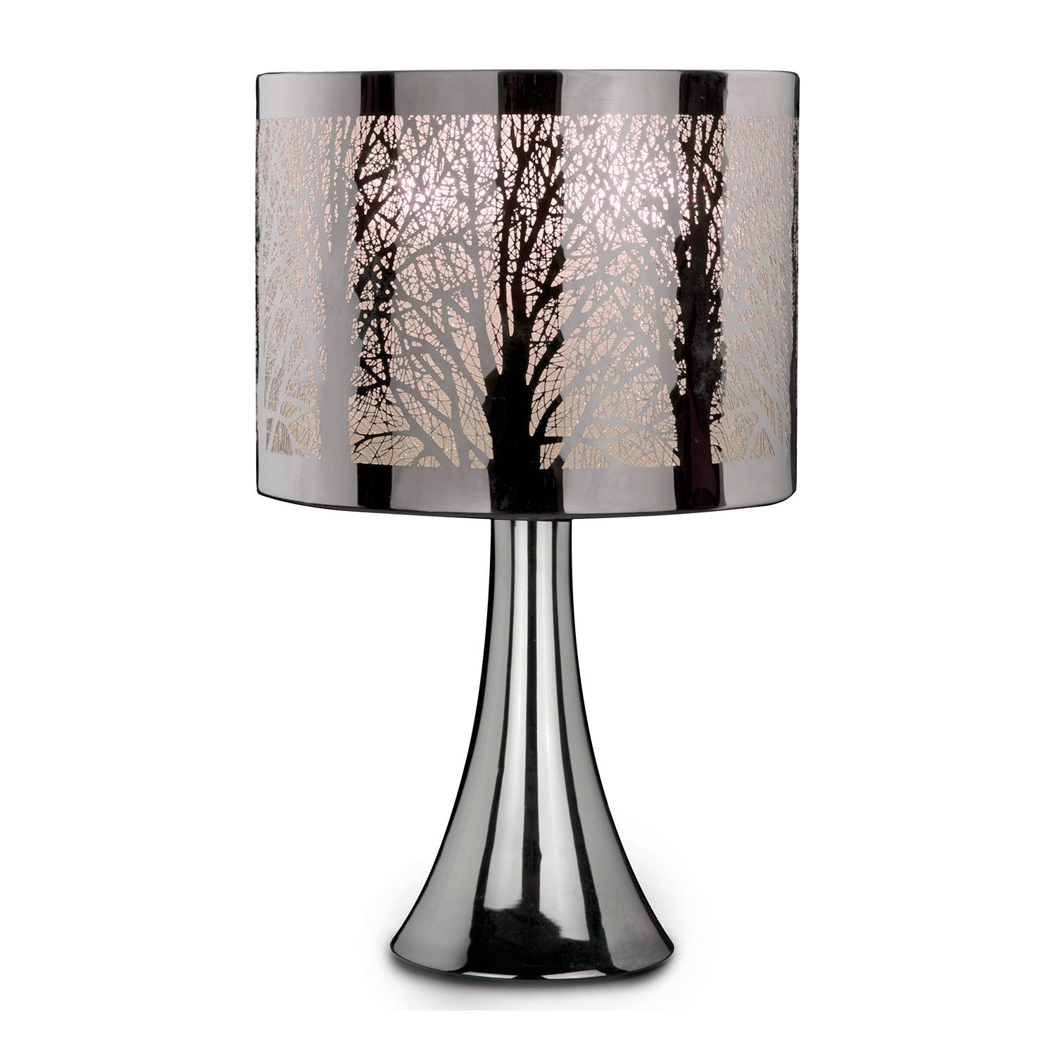 The Tree Scene touch lamp features a chrome effect base with a – Tree Desk Lamp