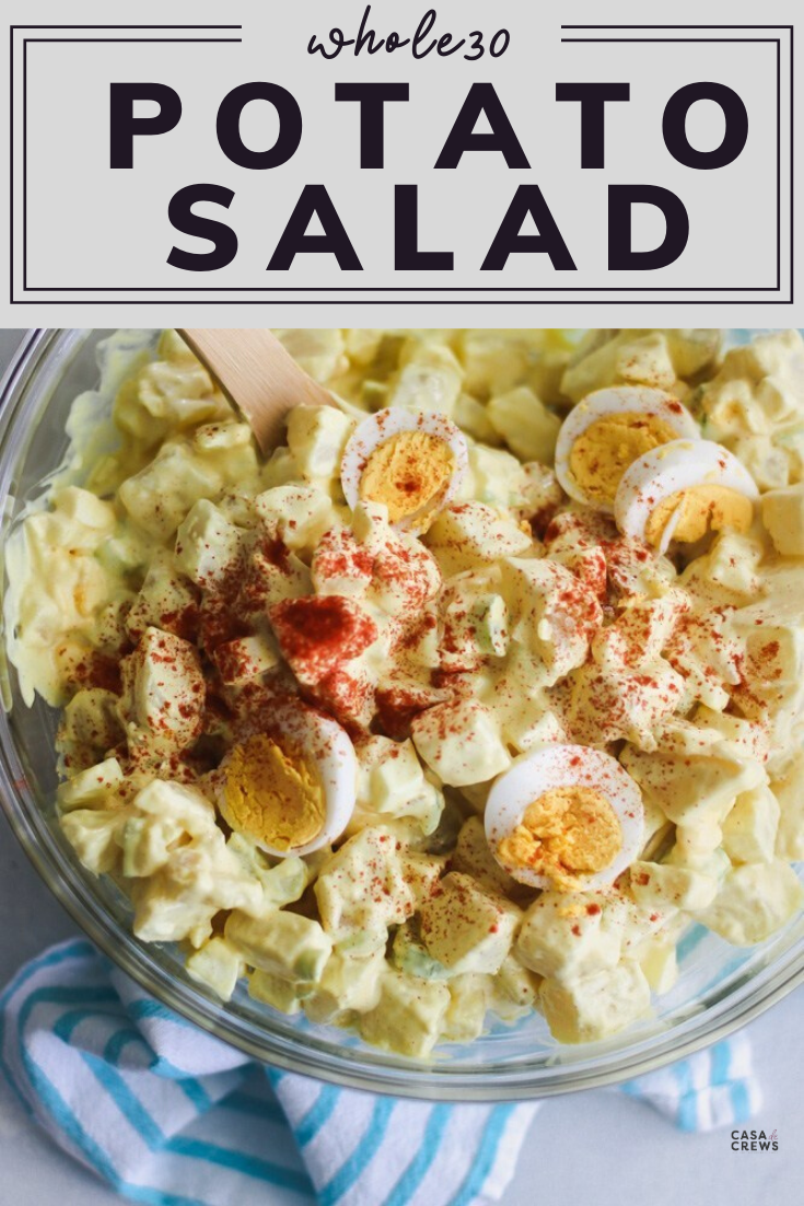 Whole30 Classic Potato Salad In 2020 Classic Potato Salad Potatoe Salad Recipe Recipes