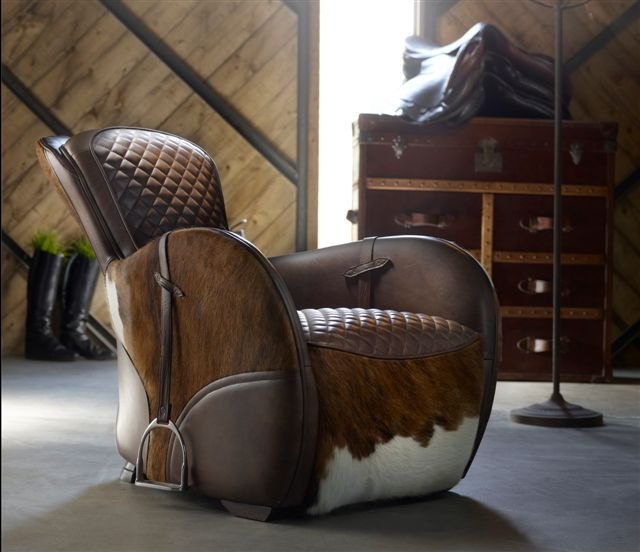 Western Saddle Chair With Stirrups   Timothy Oulton