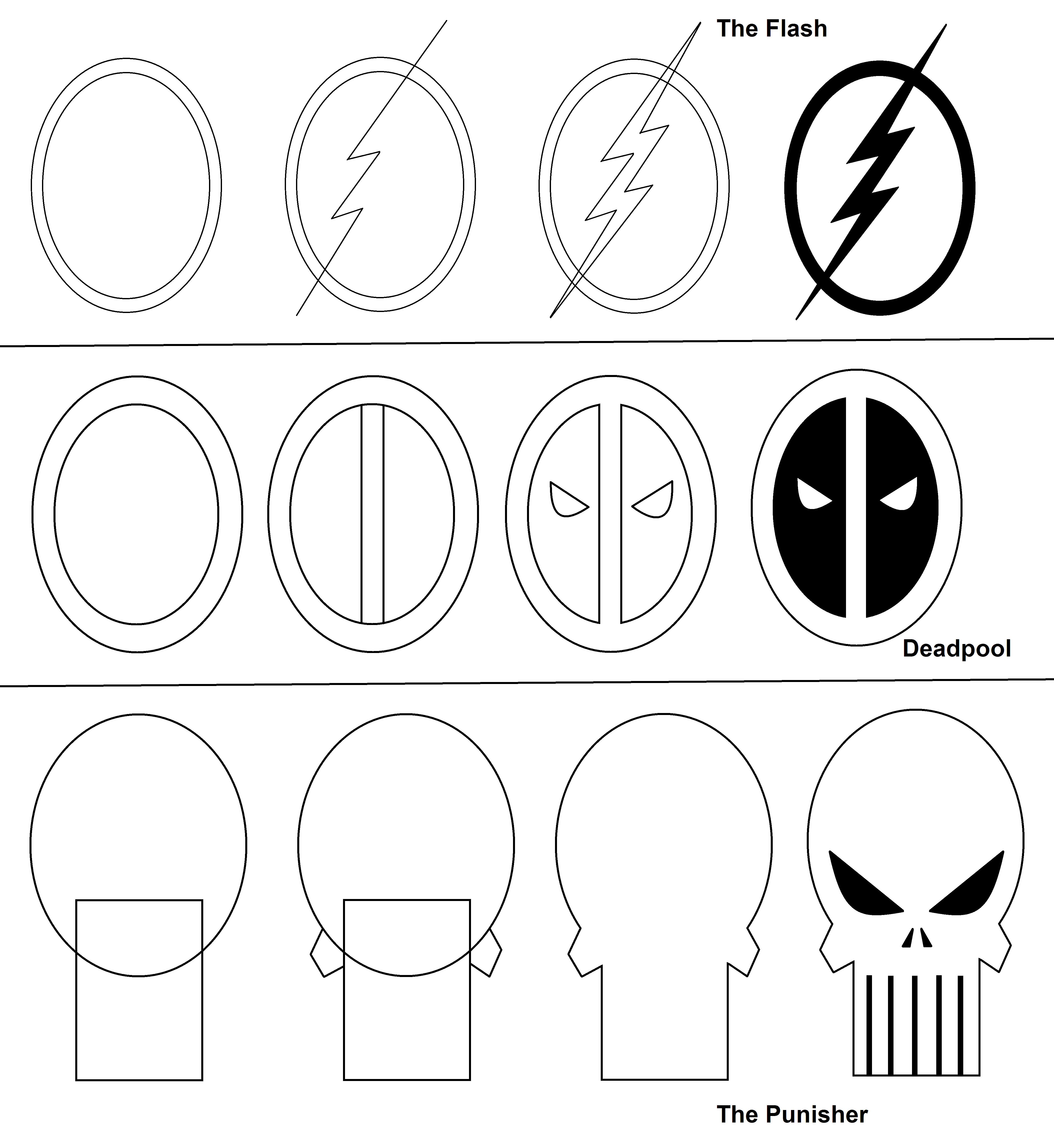 Superhero Logos (part 3) stepbystep tutorial. Cool
