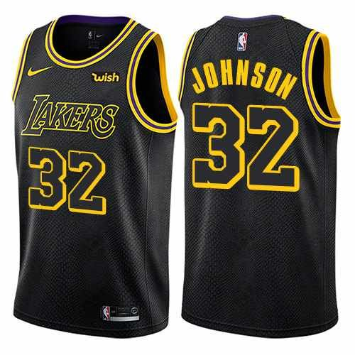 What An Amazing Throwback Magic Johnson Jersey In The New Los Angeles Lakers Colour Ways Los Angeles Lakers Nba Jersey Anthony Davis