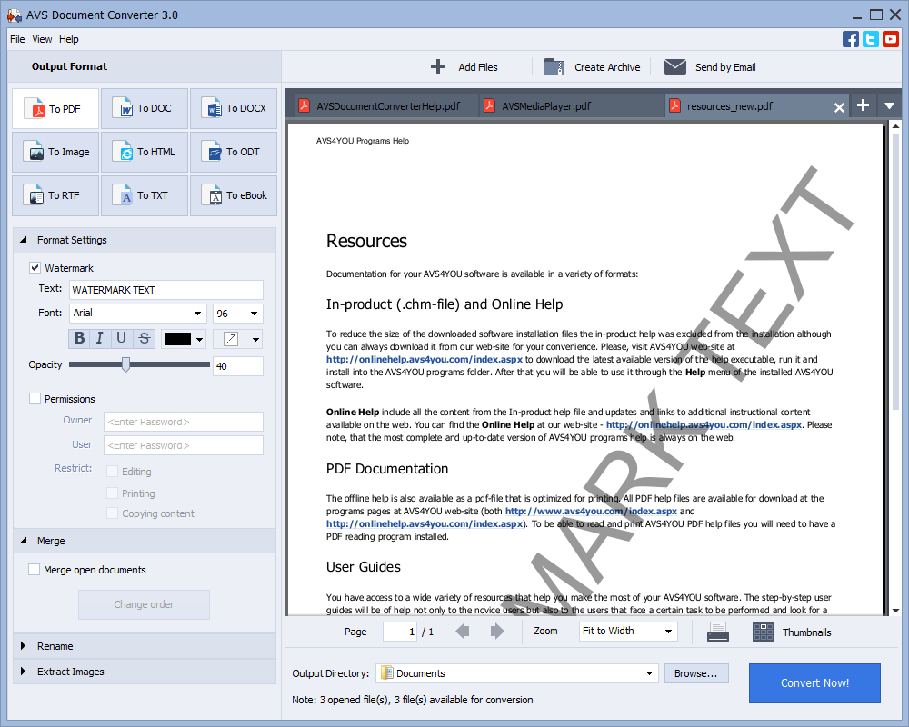 AVS Document Converter is a lossless tool to convert PDF