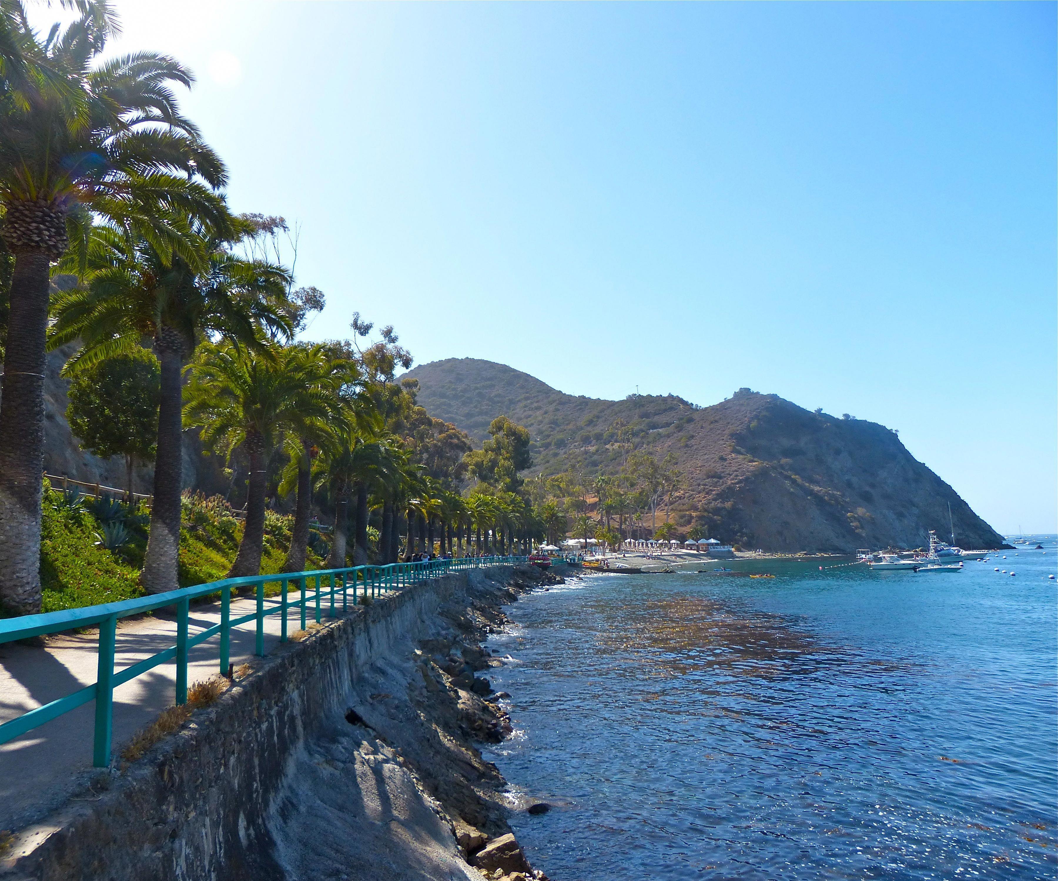 A walk from the Casino to Descano Bay, Catalina, CA