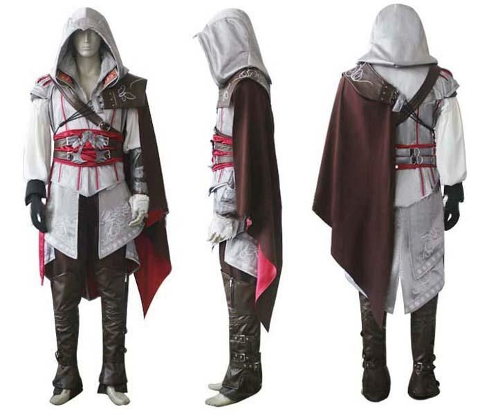 Assassin S Creed 2 Costume Ezio Auditore Cosplay Outfit Female Men