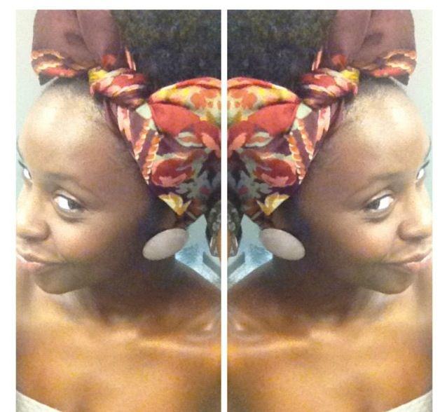 Wonderful bow! Natural hair! ScArf! Headwrap