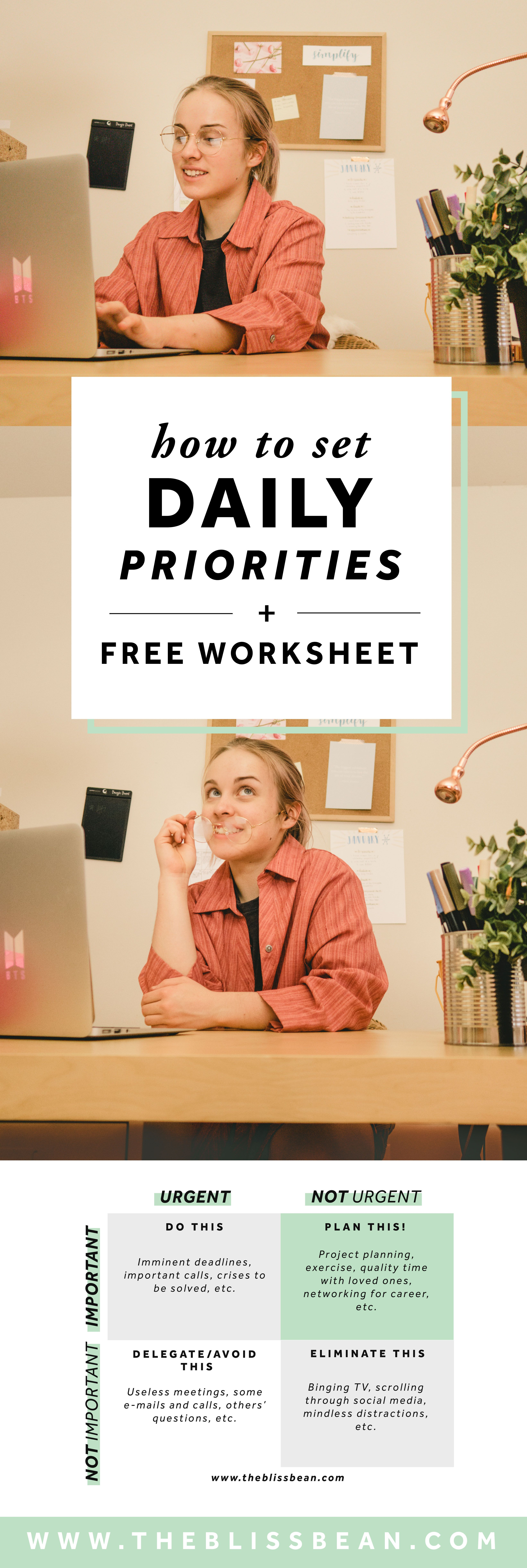 How To Set Daily Priorities A Free Worksheet